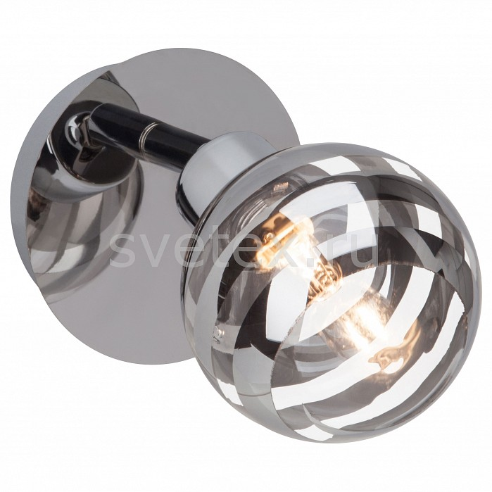 Спот BrilliantКруглые<br>Артикул - BT_G34410_15,Бренд - Brilliant (Германия),Коллекция - Theron,Гарантия, месяцы - 24,Выступ, мм - 170,Диаметр, мм - 110,Тип лампы - галогеновая,Общее кол-во ламп - 1,Напряжение питания лампы, В - 220,Максимальная мощность лампы, Вт - 33,Цвет лампы - белый теплый,Лампы в комплекте - галогеновая G9,Цвет плафонов и подвесок - разноцветный полосатый: неокрашенный, хром,Тип поверхности плафонов - глянцевый, прозрачный,Материал плафонов и подвесок - стекло,Цвет арматуры - хром,Тип поверхности арматуры - глянцевый,Материал арматуры - металл,Количество плафонов - 1,Возможность подлючения диммера - можно,Форма и тип колбы - пальчиковая,Тип цоколя лампы - G9,Цветовая температура, K - 2800 K,Экономичнее лампы накаливания - на 50%,Класс электробезопасности - I,Степень пылевлагозащиты, IP - 20,Диапазон рабочих температур - комнатная температура,Дополнительные параметры - способ крепления светильника к потолку и стене – на монтажной пластине, поворотный светильник<br>
