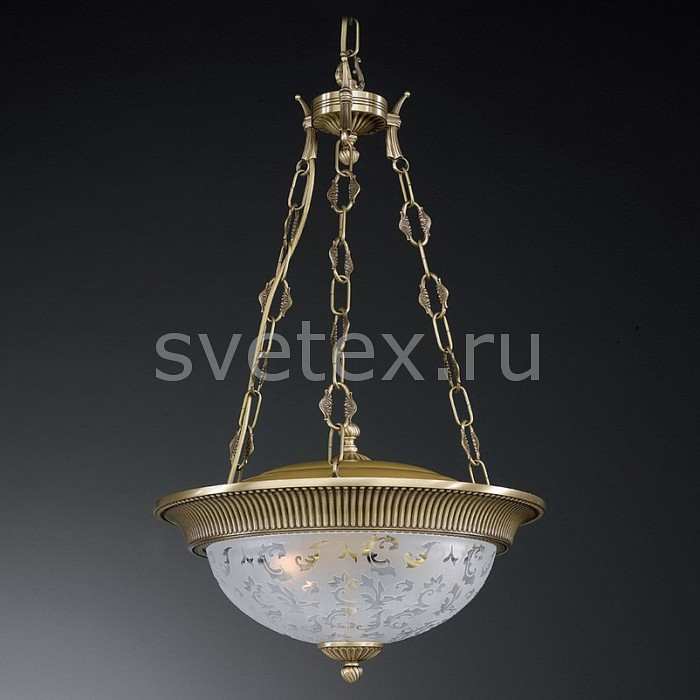 Подвесной светильник Reccagni AngeloСветодиодные<br>Артикул - RA_L_6212_3,Бренд - Reccagni Angelo (Италия),Коллекция - 6212,Гарантия, месяцы - 24,Высота, мм - 720-1820,Диаметр, мм - 400,Тип лампы - компактная люминесцентная [КЛЛ] ИЛИнакаливания ИЛИсветодиодная [LED],Общее кол-во ламп - 3,Напряжение питания лампы, В - 220,Максимальная мощность лампы, Вт - 60,Лампы в комплекте - отсутствуют,Цвет плафонов и подвесок - неокрашенный с рисунком и каймой,Тип поверхности плафонов - матовый,Материал плафонов и подвесок - стекло,Цвет арматуры - бронза состаренная,Тип поверхности арматуры - матовый, рельефный,Материал арматуры - латунь,Количество плафонов - 1,Возможность подлючения диммера - можно, если установить лампу накаливания,Тип цоколя лампы - E27,Класс электробезопасности - I,Общая мощность, Вт - 180,Степень пылевлагозащиты, IP - 20,Диапазон рабочих температур - комнатная температура,Дополнительные параметры - способ крепления светильника к потолку - на крюке, регулируется по высоте<br>