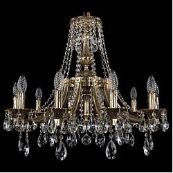 Подвесная люстра Bohemia Ivele CrystalБолее 6 ламп<br>Артикул - BI_1771_10_190_A_GB,Бренд - Bohemia Ivele Crystal (Чехия),Коллекция - 1771,Гарантия, месяцы - 24,Высота, мм - 470,Диаметр, мм - 620,Размер упаковки, мм - 450x450x200,Тип лампы - компактная люминесцентная [КЛЛ] ИЛИнакаливания ИЛИсветодиодная [LED],Общее кол-во ламп - 10,Напряжение питания лампы, В - 220,Максимальная мощность лампы, Вт - 40,Лампы в комплекте - отсутствуют,Цвет плафонов и подвесок - неокрашенный,Тип поверхности плафонов - прозрачный,Материал плафонов и подвесок - хрусталь,Цвет арматуры - золото черненое,Тип поверхности арматуры - глянцевый, рельефный,Материал арматуры - латунь,Возможность подлючения диммера - можно, если установить лампу накаливания,Форма и тип колбы - свеча ИЛИ свеча на ветру,Тип цоколя лампы - E14,Класс электробезопасности - I,Общая мощность, Вт - 400,Степень пылевлагозащиты, IP - 20,Диапазон рабочих температур - комнатная температура,Дополнительные параметры - способ крепления светильника к потолку - на крюке, указана высота светильника без подвеса<br>