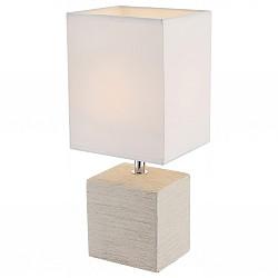Настольная лампа GloboС абажуром<br>Артикул - GB_21675,Бренд - Globo (Австрия),Коллекция - Geri,Гарантия, месяцы - 24,Высота, мм - 290,Размер упаковки, мм - 145x120x190,Тип лампы - компактная люминесцентная [КЛЛ] ИЛИнакаливания ИЛИсветодиодная [LED],Общее кол-во ламп - 1,Напряжение питания лампы, В - 220,Максимальная мощность лампы, Вт - 40,Лампы в комплекте - отсутствуют,Цвет плафонов и подвесок - бежевый,Тип поверхности плафонов - матовый,Материал плафонов и подвесок - текстиль,Цвет арматуры - коричневый, хром,Тип поверхности арматуры - глянцевый, матовый,Материал арматуры - керамика, металл,Тип цоколя лампы - E14,Класс электробезопасности - II,Степень пылевлагозащиты, IP - 20,Диапазон рабочих температур - комнатная температура<br>