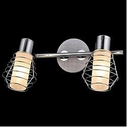 Спот EurosvetС 2 лампами<br>Артикул - EV_76518,Бренд - Eurosvet (Китай),Коллекция - Эфес,Гарантия, месяцы - 24,Тип лампы - компактная люминесцентная [КЛЛ] ИЛИнакаливания ИЛИсветодиодная [LED],Общее кол-во ламп - 2,Напряжение питания лампы, В - 220,Максимальная мощность лампы, Вт - 40,Лампы в комплекте - отсутствуют,Цвет плафонов и подвесок - белый, хром,Тип поверхности плафонов - глянцевый, матовый,Материал плафонов и подвесок - стекло,Цвет арматуры - серый, хром,Тип поверхности арматуры - глянцевый, матовый,Материал арматуры - дерево, металл,Возможность подлючения диммера - можно, если установить лампу накаливания,Тип цоколя лампы - E14,Класс электробезопасности - I,Общая мощность, Вт - 80,Степень пылевлагозащиты, IP - 20,Диапазон рабочих температур - комнатная температура,Дополнительные параметры - способ крепления светильника к потолку и стене - на монтажной пластине, поворотный светильник<br>