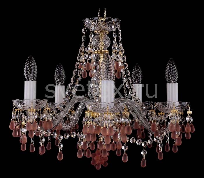 Фото Подвесная люстра Bohemia Ivele Crystal 1410 1410/5/160/G/7010