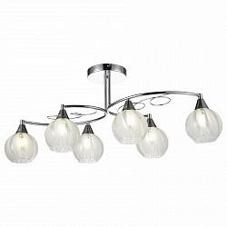 Люстра на штанге ST-Luce5 или 6 ламп<br>Артикул - SLE101.112.06,Бренд - ST-Luce (Китай),Коллекция - SLE101,Гарантия, месяцы - 24,Высота, мм - 325,Размер упаковки, мм - 770х320х250,Тип лампы - компактная люминесцентная [КЛЛ] ИЛИнакаливания ИЛИсветодиодная [LED],Общее кол-во ламп - 6,Напряжение питания лампы, В - 220,Максимальная мощность лампы, Вт - 40,Лампы в комплекте - отсутствуют,Цвет плафонов и подвесок - белый полосатый,Тип поверхности плафонов - матовый, прозрачный,Материал плафонов и подвесок - стекло,Цвет арматуры - хром,Тип поверхности арматуры - глянцевый, металлик,Материал арматуры - металл,Возможность подлючения диммера - можно, если установить лампу накаливания,Тип цоколя лампы - E14,Класс электробезопасности - I,Общая мощность, Вт - 240,Степень пылевлагозащиты, IP - 20,Диапазон рабочих температур - комнатная температура,Дополнительные параметры - способ крепления светильника к потолку – на монтажной пластине<br>