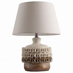 Настольная лампа декоративная ST-LuceС абажуром<br>Артикул - SL995.504.01,Бренд - ST-Luce (Китай),Коллекция - Tabella,Гарантия, месяцы - 24,Высота, мм - 300,Диаметр, мм - 430,Размер упаковки, мм - 640х430х380; 310х310х320,Тип лампы - компактная люминесцентная [КЛЛ] ИЛИнакаливания ИЛИсветодиодная [LED],Общее кол-во ламп - 1,Напряжение питания лампы, В - 220,Максимальная мощность лампы, Вт - 60,Лампы в комплекте - отсутствуют,Цвет плафонов и подвесок - бежевый,Тип поверхности плафонов - матовый,Материал плафонов и подвесок - текстиль,Цвет арматуры - бежевый, светло-коричневый,Тип поверхности арматуры - глянцевый,Материал арматуры - керамика,Тип цоколя лампы - E27,Класс электробезопасности - II,Степень пылевлагозащиты, IP - 20,Диапазон рабочих температур - комнатная температура<br>