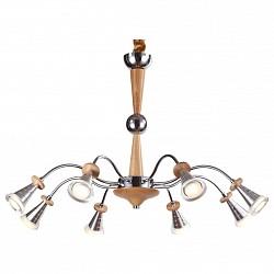 Подвесная люстра Lucia TucciДеревянные<br>Артикул - LT_Natura_071.8_Led,Бренд - Lucia Tucci (Италия),Коллекция - Natura,Гарантия, месяцы - 24,Высота, мм - 800,Диаметр, мм - 700,Тип лампы - светодиодная [LED],Общее кол-во ламп - 8,Напряжение питания лампы, В - 220,Максимальная мощность лампы, Вт - 3,Лампы в комплекте - светодиодные [LED],Цвет плафонов и подвесок - неокрашенный,Тип поверхности плафонов - прозрачный,Материал плафонов и подвесок - стекло,Цвет арматуры - сосна, хром,Тип поверхности арматуры - глянцевый, матовый,Материал арматуры - дерево, металл,Возможность подлючения диммера - нельзя,Класс электробезопасности - I,Общая мощность, Вт - 24,Степень пылевлагозащиты, IP - 20,Диапазон рабочих температур - комнатная температура,Дополнительные параметры - регулируется по высоте,  способ крепления светильника к потолку – на монтажной пластине<br>