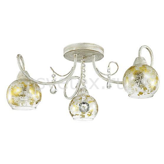 Потолочная люстра LumionЛюстры<br>Артикул - LMN_3123_3C,Бренд - Lumion (Италия),Коллекция - Orianna,Гарантия, месяцы - 24,Высота, мм - 250,Диаметр, мм - 570,Размер упаковки, мм - 270x170x450,Тип лампы - компактная люминесцентная [КЛЛ] ИЛИнакаливания ИЛИсветодиодная [LED],Общее кол-во ламп - 3,Напряжение питания лампы, В - 220,Максимальная мощность лампы, Вт - 40,Лампы в комплекте - отсутствуют,Цвет плафонов и подвесок - неокрашенный с золотым рисунком,Тип поверхности плафонов - прозрачный,Материал плафонов и подвесок - стекло, хрусталь,Цвет арматуры - белый с золотой патиной,Тип поверхности арматуры - матовый,Материал арматуры - металл,Количество плафонов - 3,Возможность подлючения диммера - можно, если установить лампу накаливания,Тип цоколя лампы - E14,Класс электробезопасности - I,Общая мощность, Вт - 120,Степень пылевлагозащиты, IP - 20,Диапазон рабочих температур - комнатная температура,Дополнительные параметры - способ крепления к потолку - на монтажной пластине<br>