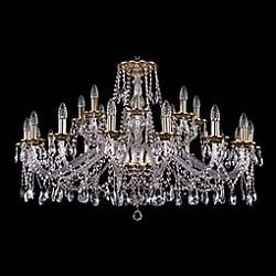 Подвесная люстра Bohemia Ivele CrystalБолее 6 ламп<br>Артикул - BI_1613_16_8_400_GB,Бренд - Bohemia Ivele Crystal (Чехия),Коллекция - 1613,Гарантия, месяцы - 24,Высота, мм - 680,Диаметр, мм - 1050,Размер упаковки, мм - 710x710x350,Тип лампы - компактная люминесцентная [КЛЛ] ИЛИнакаливания ИЛИсветодиодная [LED],Общее кол-во ламп - 24,Напряжение питания лампы, В - 220,Максимальная мощность лампы, Вт - 40,Лампы в комплекте - отсутствуют,Цвет плафонов и подвесок - неокрашенный,Тип поверхности плафонов - прозрачный,Материал плафонов и подвесок - хрусталь,Цвет арматуры - золото черненое, неокрашенный,Тип поверхности арматуры - глянцевый, прозрачный, рельефный,Материал арматуры - латунь, стекло,Возможность подлючения диммера - можно, если установить лампу накаливания,Форма и тип колбы - свеча ИЛИ свеча на ветру,Тип цоколя лампы - E14,Класс электробезопасности - I,Общая мощность, Вт - 960,Степень пылевлагозащиты, IP - 20,Диапазон рабочих температур - комнатная температура,Дополнительные параметры - способ крепления светильника к потолку - на крюке, указана высота светильника без подвеса<br>