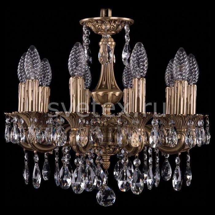 Подвесная люстра Bohemia Ivele CrystalБолее 6 ламп<br>Артикул - BI_1707_10_125_A_FP,Бренд - Bohemia Ivele Crystal (Чехия),Коллекция - 1707,Гарантия, месяцы - 24,Высота, мм - 420,Диаметр, мм - 460,Размер упаковки, мм - 450x450x200,Тип лампы - компактная люминесцентная [КЛЛ] ИЛИнакаливания ИЛИсветодиодная [LED],Общее кол-во ламп - 10,Напряжение питания лампы, В - 220,Максимальная мощность лампы, Вт - 40,Лампы в комплекте - отсутствуют,Цвет плафонов и подвесок - неокрашенный,Тип поверхности плафонов - прозрачный,Материал плафонов и подвесок - хрусталь,Цвет арматуры - золото французское с патиной,Тип поверхности арматуры - глянцевый, рельефный,Материал арматуры - латунь,Возможность подлючения диммера - можно, если установить лампу накаливания,Форма и тип колбы - свеча ИЛИ свеча на ветру,Тип цоколя лампы - E14,Класс электробезопасности - I,Общая мощность, Вт - 400,Степень пылевлагозащиты, IP - 20,Диапазон рабочих температур - комнатная температура,Дополнительные параметры - способ крепления светильника к потолку - на крюке, указана высота светильника без подвеса<br>