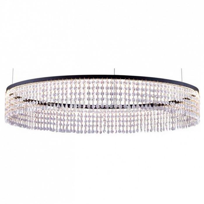 Подвесной светильник Lucia TucciПодвесные светильники<br>Артикул - LT_eclipse_1672.1_D800_LED,Бренд - Lucia Tucci (Италия),Коллекция - Eclipse,Гарантия, месяцы - 24,Время изготовления, дней - 1,Высота, мм - 1285,Диаметр, мм - 800,Тип лампы - светодиодная [LED],Общее кол-во ламп - 1,Напряжение питания лампы, В - 220,Максимальная мощность лампы, Вт - 48,Цвет лампы - белый,Лампы в комплекте - светодиодная [LED],Цвет плафонов и подвесок - неокрашенный,Тип поверхности плафонов - прозрачный,Материал плафонов и подвесок - хрусталь K10 (Strappare),Цвет арматуры - черный,Тип поверхности арматуры - матовый,Материал арматуры - металл,Возможность подлючения диммера - нельзя,Цветовая температура, K - 4000 K,Экономичнее лампы накаливания - в  10 раз,Ресурс лампы - 25 тыс. часов,Класс электробезопасности - I,Степень пылевлагозащиты, IP - 20,Диапазон рабочих температур - комнатная температура,Дополнительные параметры - способ крепления светильника к потолку – на монтажной пластине<br>