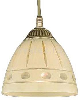 Подвесной светильник Reccagni AngeloСветодиодные<br>Артикул - RA_L_7054_14,Бренд - Reccagni Angelo (Италия),Коллекция - 7054,Гарантия, месяцы - 24,Высота, мм - 140-1240,Диаметр, мм - 140,Тип лампы - компактная люминесцентная [КЛЛ] ИЛИнакаливания ИЛИсветодиодная [LED],Общее кол-во ламп - 1,Напряжение питания лампы, В - 220,Максимальная мощность лампы, Вт - 60,Лампы в комплекте - отсутствуют,Цвет плафонов и подвесок - кремовый с рисунком,Тип поверхности плафонов - матовый,Материал плафонов и подвесок - стекло,Цвет арматуры - бронза состаренная,Тип поверхности арматуры - матовый, рельефный,Материал арматуры - латунь,Количество плафонов - 1,Возможность подлючения диммера - можно, если установить лампу накаливания,Тип цоколя лампы - E27,Класс электробезопасности - I,Степень пылевлагозащиты, IP - 20,Диапазон рабочих температур - комнатная температура,Дополнительные параметры - способ крепления светильника к потолку - на крюке, регулируется по высоте<br>