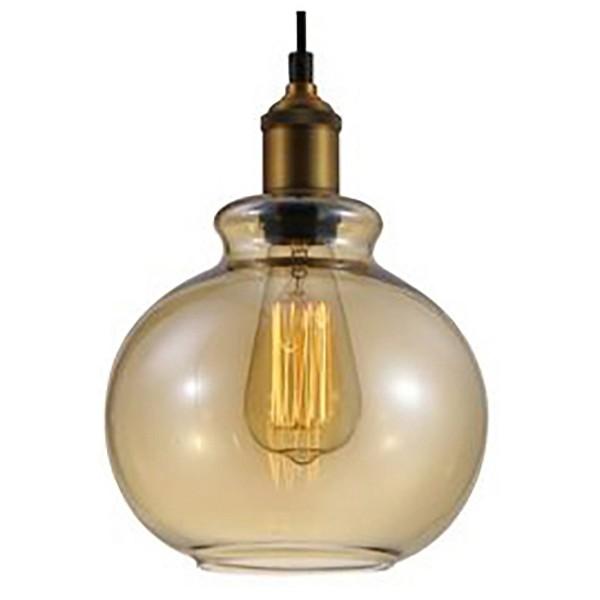 Подвесной светильник Crystal LuxБарные<br>Артикул - CU_2600_201,Бренд - Crystal Lux (Испания),Коллекция - Olla,Гарантия, месяцы - 24,Высота, мм - 260-1460,Диаметр, мм - 240,Тип лампы - компактная люминесцентная [КЛЛ] ИЛИнакаливания ИЛИсветодиодная [LED],Общее кол-во ламп - 1,Напряжение питания лампы, В - 220,Максимальная мощность лампы, Вт - 60,Лампы в комплекте - отсутствуют,Цвет плафонов и подвесок - янтарный,Тип поверхности плафонов - прозрачный,Материал плафонов и подвесок - стекло,Цвет арматуры - бронза,Тип поверхности арматуры - матовый,Материал арматуры - металл,Количество плафонов - 1,Возможность подлючения диммера - можно, если установить лампу накаливания,Тип цоколя лампы - E27,Класс электробезопасности - I,Степень пылевлагозащиты, IP - 20,Диапазон рабочих температур - комнатная температура,Дополнительные параметры - способ крепления светильника к потолку - на монтажной пластине, регулируется по высоте, диаметр основания 120 мм<br>