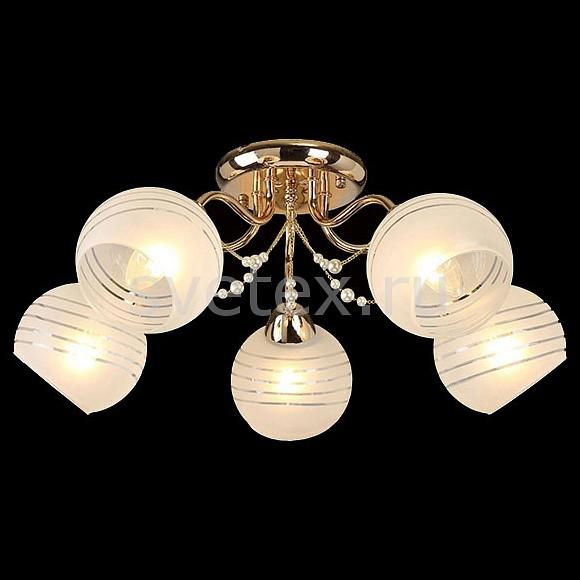 Потолочная люстра ОптимаЛюстры<br>Артикул - EV_76631,Бренд - Оптима (Китай),Коллекция - Мелисса,Гарантия, месяцы - 24,Высота, мм - 220,Диаметр, мм - 600,Тип лампы - компактная люминесцентная [КЛЛ] ИЛИнакаливания ИЛИсветодиодная [LED],Общее кол-во ламп - 5,Напряжение питания лампы, В - 220,Максимальная мощность лампы, Вт - 60,Лампы в комплекте - отсутствуют,Цвет плафонов и подвесок - белый полосатый,Тип поверхности плафонов - матовый,Материал плафонов и подвесок - стекло,Цвет арматуры - золото,Тип поверхности арматуры - глянцевый,Материал арматуры - металл,Количество плафонов - 5,Возможность подлючения диммера - можно, если установить лампу накаливания,Тип цоколя лампы - E27,Класс электробезопасности - I,Общая мощность, Вт - 300,Степень пылевлагозащиты, IP - 20,Диапазон рабочих температур - комнатная температура,Дополнительные параметры - способ крепления светильника к потолку - на монтажной пластине<br>