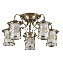 Потолочная люстра Lumion5 или 6 ламп<br>Артикул - LMN_3118_5C,Бренд - Lumion (Италия),Коллекция - Sekvana,Гарантия, месяцы - 24,Высота, мм - 255,Диаметр, мм - 540,Размер упаковки, мм - 230x420x350,Тип лампы - компактная люминесцентная [КЛЛ] ИЛИнакаливания ИЛИсветодиодная [LED],Общее кол-во ламп - 5,Напряжение питания лампы, В - 220,Максимальная мощность лампы, Вт - 40,Лампы в комплекте - отсутствуют,Цвет плафонов и подвесок - белый с бронзовым рисунком,Тип поверхности плафонов - матовый,Материал плафонов и подвесок - металл, стекло,Цвет арматуры - бронза,Тип поверхности арматуры - матовый, металлик,Материал арматуры - металл,Возможность подлючения диммера - можно, если установить лампу накаливания,Тип цоколя лампы - E27,Класс электробезопасности - I,Общая мощность, Вт - 200,Степень пылевлагозащиты, IP - 20,Диапазон рабочих температур - комнатная температура,Дополнительные параметры - способ крепления к потолку - на монтажной пластине<br>