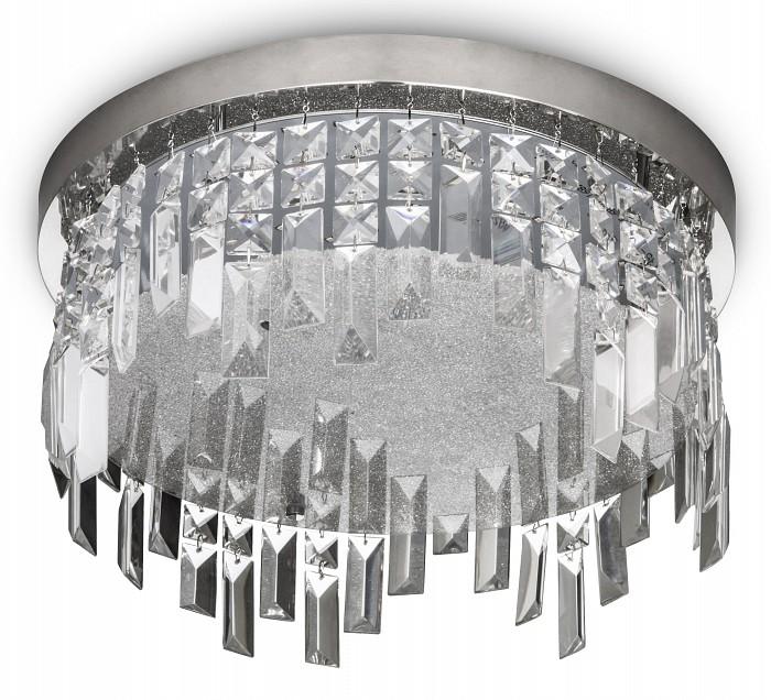 Накладной светильник MantraСветодиодные<br>Артикул - MN_5521,Бренд - Mantra (Испания),Коллекция - Kawai,Гарантия, месяцы - 24,Высота, мм - 240,Диаметр, мм - 250,Тип лампы - светодиодная [LED],Общее кол-во ламп - 1,Напряжение питания лампы, В - 220,Максимальная мощность лампы, Вт - 12,Цвет лампы - белый,Лампы в комплекте - светодиодная [LED],Цвет плафонов и подвесок - неокрашенный,Тип поверхности плафонов - прозрачный,Материал плафонов и подвесок - стекло,Цвет арматуры - хром,Тип поверхности арматуры - глянцевый,Материал арматуры - металл,Возможность подлючения диммера - нельзя,Цветовая температура, K - 4000 K,Световой поток, лм - 950,Экономичнее лампы накаливания - в 6.8 раз,Светоотдача, лм/Вт - 79,Класс электробезопасности - I,Степень пылевлагозащиты, IP - 20,Диапазон рабочих температур - комнатная температура,Дополнительные параметры - способ крепления светильника к потолку – на монтажной пластине<br>