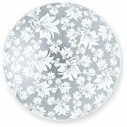 Накладной светильник TopLightКруглые<br>Артикул - TPL_TL9064Y-02WH,Бренд - TopLight (Россия),Коллекция - Primrose,Гарантия, месяцы - 24,Высота, мм - 70,Диаметр, мм - 250,Размер упаковки, мм - 260x130x260,Тип лампы - компактная люминесцентная [КЛЛ] ИЛИнакаливания ИЛИсветодиодная [LED],Общее кол-во ламп - 1,Напряжение питания лампы, В - 220,Максимальная мощность лампы, Вт - 60,Лампы в комплекте - отсутствуют,Цвет плафонов и подвесок - неокрашенный с белым рисунком,Тип поверхности плафонов - матовый, прозрачный,Материал плафонов и подвесок - стекло,Цвет арматуры - хром,Тип поверхности арматуры - глянцевый,Материал арматуры - металл,Возможность подлючения диммера - можно, если установить лампу накаливания,Тип цоколя лампы - E27,Класс электробезопасности - I,Степень пылевлагозащиты, IP - 20,Диапазон рабочих температур - комнатная температура,Дополнительные параметры - способ крепления светильника к потолку - на монтажной пластине<br>
