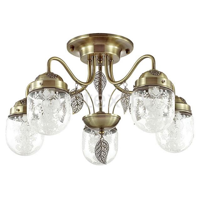 Потолочная люстра LumionЛюстры<br>Артикул - LMN_3288_5C,Бренд - Lumion (Италия),Коллекция - Afemi,Гарантия, месяцы - 24,Высота, мм - 330,Диаметр, мм - 520,Размер упаковки, мм - 180x490x350,Тип лампы - компактная люминесцентная [КЛЛ] ИЛИнакаливания ИЛИсветодиодная [LED],Общее кол-во ламп - 5,Напряжение питания лампы, В - 220,Максимальная мощность лампы, Вт - 40,Лампы в комплекте - отсутствуют,Цвет плафонов и подвесок - бронза, неокрашенный с рисунком,Тип поверхности плафонов - матовый, прозрачный,Материал плафонов и подвесок - металл, стекло,Цвет арматуры - бронза,Тип поверхности арматуры - матовый,Материал арматуры - металл,Количество плафонов - 5,Возможность подлючения диммера - можно, если установить лампу накаливания,Тип цоколя лампы - E14,Класс электробезопасности - I,Общая мощность, Вт - 200,Степень пылевлагозащиты, IP - 20,Диапазон рабочих температур - комнатная температура,Дополнительные параметры - способ крепления светильника к потолку - на монтажной пластине<br>
