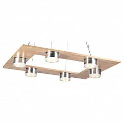 Подвесная люстра Lucia TucciМеталлические плафоны<br>Артикул - LT_Natura_152.6,Бренд - Lucia Tucci (Италия),Коллекция - Natura,Гарантия, месяцы - 24,Высота, мм - 610,Тип лампы - светодиодная [LED],Общее кол-во ламп - 6,Напряжение питания лампы, В - 220,Максимальная мощность лампы, Вт - 5,Лампы в комплекте - светодиодные [LED],Цвет плафонов и подвесок - белый, хром,Тип поверхности плафонов - глянцевый, матовый,Материал плафонов и подвесок - акрил, металл,Цвет арматуры - сосна, хром,Тип поверхности арматуры - глянцевый, матовый,Материал арматуры - дерево, металл,Возможность подлючения диммера - нельзя,Класс электробезопасности - I,Общая мощность, Вт - 30,Степень пылевлагозащиты, IP - 20,Диапазон рабочих температур - комнатная температура,Дополнительные параметры - регулируется по высоте,  способ крепления светильника к потолку – на монтажной пластине<br>