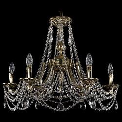 Подвесная люстра Bohemia Ivele Crystal5 или 6 ламп<br>Артикул - BI_1771_6_220_C_GB,Бренд - Bohemia Ivele Crystal (Чехия),Коллекция - 1771,Гарантия, месяцы - 24,Высота, мм - 550,Диаметр, мм - 690,Размер упаковки, мм - 640x640x320,Тип лампы - компактная люминесцентная [КЛЛ] ИЛИнакаливания ИЛИсветодиодная [LED],Общее кол-во ламп - 6,Напряжение питания лампы, В - 220,Максимальная мощность лампы, Вт - 40,Лампы в комплекте - отсутствуют,Цвет плафонов и подвесок - неокрашенный,Тип поверхности плафонов - прозрачный,Материал плафонов и подвесок - хрусталь,Цвет арматуры - золото черненое,Тип поверхности арматуры - глянцевый, рельефный,Материал арматуры - латунь,Возможность подлючения диммера - можно, если установить лампу накаливания,Форма и тип колбы - свеча ИЛИ свеча на ветру,Тип цоколя лампы - E14,Класс электробезопасности - I,Общая мощность, Вт - 240,Степень пылевлагозащиты, IP - 20,Диапазон рабочих температур - комнатная температура,Дополнительные параметры - способ крепления светильника к потолку - на крюке, указана высота светильника без подвеса<br>