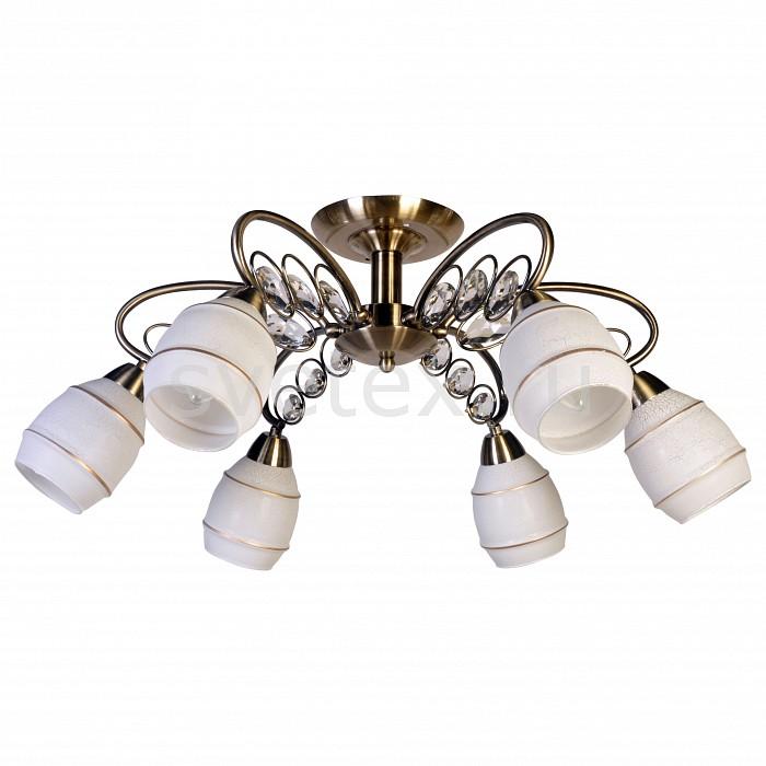 Люстра на штанге SilverLightЛюстра пятирожковая<br>Артикул - SL_206.53.6,Бренд - SilverLight (Франция),Коллекция - Spark,Гарантия, месяцы - 24,Высота, мм - 290,Диаметр, мм - 630,Тип лампы - компактная люминесцентная [КЛЛ] ИЛИнакаливания ИЛИсветодиодная [LED],Общее кол-во ламп - 6,Напряжение питания лампы, В - 220,Максимальная мощность лампы, Вт - 60,Лампы в комплекте - отсутствуют,Цвет плафонов и подвесок - белый с рисунком, бронза,Тип поверхности плафонов - матовый, прозрачный,Материал плафонов и подвесок - стекло, хрусталь,Цвет арматуры - бронза,Тип поверхности арматуры - матовый,Материал арматуры - металл,Количество плафонов - 6,Возможность подлючения диммера - можно, если установить лампу накаливания,Тип цоколя лампы - E14,Класс электробезопасности - I,Общая мощность, Вт - 360,Степень пылевлагозащиты, IP - 20,Диапазон рабочих температур - комнатная температура,Дополнительные параметры - способ крепления светильника на потолке - на монтажной пластине<br>