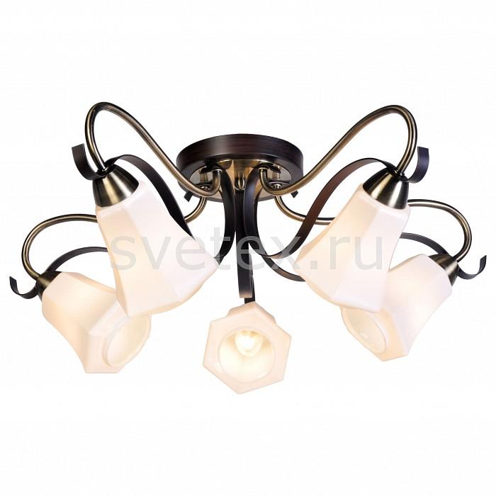Потолочная люстра SilverLightЛюстра пятирожковая<br>Артикул - SL_225.59.5,Бренд - SilverLight (Франция),Коллекция - Merely,Гарантия, месяцы - 12,Высота, мм - 258,Диаметр, мм - 605,Тип лампы - компактная люминесцентная [КЛЛ] ИЛИнакаливания ИЛИсветодиодная [LED],Общее кол-во ламп - 5,Напряжение питания лампы, В - 220,Максимальная мощность лампы, Вт - 60,Лампы в комплекте - отсутствуют,Цвет плафонов и подвесок - белый,Тип поверхности плафонов - матовый,Материал плафонов и подвесок - стекло,Цвет арматуры - бронза, венге,Тип поверхности арматуры - матовый,Материал арматуры - металл,Количество плафонов - 5,Возможность подлючения диммера - можно, если установить лампу накаливания,Тип цоколя лампы - E14,Класс электробезопасности - I,Общая мощность, Вт - 300,Степень пылевлагозащиты, IP - 20,Диапазон рабочих температур - комнатная температура,Дополнительные параметры - способ крепления светильника к потолку – на монтажной пластине<br>