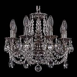 Подвесная люстра Bohemia Ivele CrystalБолее 6 ламп<br>Артикул - BI_1707_8_125_C_NB,Бренд - Bohemia Ivele Crystal (Чехия),Коллекция - 1707,Гарантия, месяцы - 24,Высота, мм - 360,Диаметр, мм - 440,Размер упаковки, мм - 450x450x200,Тип лампы - компактная люминесцентная [КЛЛ] ИЛИнакаливания ИЛИсветодиодная [LED],Общее кол-во ламп - 8,Напряжение питания лампы, В - 220,Максимальная мощность лампы, Вт - 40,Лампы в комплекте - отсутствуют,Цвет плафонов и подвесок - неокрашенный,Тип поверхности плафонов - прозрачный,Материал плафонов и подвесок - хрусталь,Цвет арматуры - никель черненый,Тип поверхности арматуры - глянцевый, рельефный,Материал арматуры - латунь,Возможность подлючения диммера - можно, если установить лампу накаливания,Форма и тип колбы - свеча ИЛИ свеча на ветру,Тип цоколя лампы - E14,Класс электробезопасности - I,Общая мощность, Вт - 320,Степень пылевлагозащиты, IP - 20,Диапазон рабочих температур - комнатная температура,Дополнительные параметры - способ крепления светильника к потолку - на крюке, указана высота светильника без подвеса<br>
