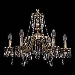 Подвесная люстра Bohemia Ivele Crystal5 или 6 ламп<br>Артикул - BI_1771_6_190_A_GB,Бренд - Bohemia Ivele Crystal (Чехия),Коллекция - 1771,Гарантия, месяцы - 24,Высота, мм - 550,Диаметр, мм - 600,Размер упаковки, мм - 450x450x200,Тип лампы - компактная люминесцентная [КЛЛ] ИЛИнакаливания ИЛИсветодиодная [LED],Общее кол-во ламп - 6,Напряжение питания лампы, В - 220,Максимальная мощность лампы, Вт - 40,Лампы в комплекте - отсутствуют,Цвет плафонов и подвесок - неокрашенный,Тип поверхности плафонов - прозрачный,Материал плафонов и подвесок - хрусталь,Цвет арматуры - золото черненое,Тип поверхности арматуры - глянцевый, рельефный,Материал арматуры - латунь,Возможность подлючения диммера - можно, если установить лампу накаливания,Форма и тип колбы - свеча ИЛИ свеча на ветру,Тип цоколя лампы - E14,Класс электробезопасности - I,Общая мощность, Вт - 240,Степень пылевлагозащиты, IP - 20,Диапазон рабочих температур - комнатная температура,Дополнительные параметры - способ крепления светильника к потолку - на крюке, указана высота светильника без подвеса<br>