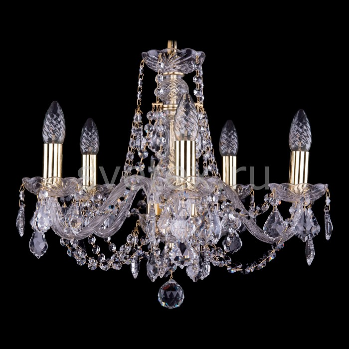 Подвесная люстра Bohemia Ivele Crystal5 или 6 ламп<br>Артикул - BI_1406_5_160_G_Balls,Бренд - Bohemia Ivele Crystal (Чехия),Коллекция - 1406,Гарантия, месяцы - 24,Высота, мм - 410,Диаметр, мм - 490,Размер упаковки, мм - 450x450x200,Тип лампы - компактная люминесцентная [КЛЛ] ИЛИнакаливания ИЛИсветодиодная [LED],Общее кол-во ламп - 5,Напряжение питания лампы, В - 220,Максимальная мощность лампы, Вт - 40,Лампы в комплекте - отсутствуют,Цвет плафонов и подвесок - неокрашенный,Тип поверхности плафонов - прозрачный,Материал плафонов и подвесок - хрусталь,Цвет арматуры - золото, неокрашенный,Тип поверхности арматуры - глянцевый, прозрачный, рельефный,Материал арматуры - металл, стекло,Возможность подлючения диммера - можно, если установить лампу накаливания,Форма и тип колбы - свеча ИЛИ свеча на ветру,Тип цоколя лампы - E14,Класс электробезопасности - I,Общая мощность, Вт - 200,Степень пылевлагозащиты, IP - 20,Диапазон рабочих температур - комнатная температура,Дополнительные параметры - способ крепления светильника к потолку - на крюке, указана высота светильника без подвеса<br>