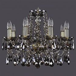 Подвесная люстра Bohemia Ivele CrystalБолее 6 ламп<br>Артикул - BI_1413_8_165_G_M731,Бренд - Bohemia Ivele Crystal (Чехия),Коллекция - 1413,Гарантия, месяцы - 24,Высота, мм - 400,Диаметр, мм - 510,Размер упаковки, мм - 450x450x200,Тип лампы - компактная люминесцентная [КЛЛ] ИЛИнакаливания ИЛИсветодиодная [LED],Общее кол-во ламп - 8,Напряжение питания лампы, В - 220,Максимальная мощность лампы, Вт - 40,Лампы в комплекте - отсутствуют,Цвет плафонов и подвесок - дымчатый светлый,Тип поверхности плафонов - прозрачный,Материал плафонов и подвесок - хрусталь,Цвет арматуры - дымчатый светлый, золото,Тип поверхности арматуры - глянцевый, прозрачный, рельефный,Материал арматуры - металл, стекло,Возможность подлючения диммера - можно, если установить лампу накаливания,Форма и тип колбы - свеча ИЛИ свеча на ветру,Тип цоколя лампы - E14,Класс электробезопасности - I,Общая мощность, Вт - 320,Степень пылевлагозащиты, IP - 20,Диапазон рабочих температур - комнатная температура,Дополнительные параметры - способ крепления светильника к потолку - на крюке, указана высота светильника без подвеса<br>