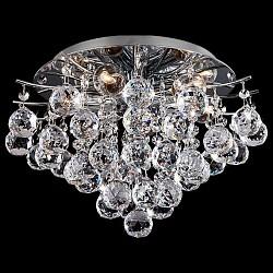 Потолочная люстра Eurosvet5 или 6 ламп<br>Артикул - EV_73850,Бренд - Eurosvet (Китай),Коллекция - 10020,Гарантия, месяцы - 24,Высота, мм - 260,Диаметр, мм - 365,Тип лампы - компактная люминесцентная [КЛЛ] ИЛИнакаливания ИЛИсветодиодная [LED],Общее кол-во ламп - 6,Напряжение питания лампы, В - 220,Максимальная мощность лампы, Вт - 60,Лампы в комплекте - отсутствуют,Цвет плафонов и подвесок - неокрашенный,Тип поверхности плафонов - прозрачный,Материал плафонов и подвесок - хрусталь,Цвет арматуры - хром,Тип поверхности арматуры - глянцевый,Материал арматуры - металл,Возможность подлючения диммера - можно, если установить лампу накаливания,Тип цоколя лампы - E27,Класс электробезопасности - I,Общая мощность, Вт - 360,Степень пылевлагозащиты, IP - 20,Диапазон рабочих температур - комнатная температура,Дополнительные параметры - способ крепления светильника к потолку - на монтажной пластине<br>