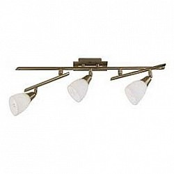 Спот GloboС 3 лампами<br>Артикул - GB_5451-3,Бренд - Globo (Австрия),Коллекция - Frank,Гарантия, месяцы - 24,Время изготовления, дней - 1,Размер упаковки, мм - 185x615x95,Тип лампы - компактная люминесцентная [КЛЛ] ИЛИнакаливания ИЛИсветодиодная [LED],Общее кол-во ламп - 3,Напряжение питания лампы, В - 220,Максимальная мощность лампы, Вт - 40,Лампы в комплекте - отсутствуют,Цвет плафонов и подвесок - опал,Тип поверхности плафонов - матовый,Материал плафонов и подвесок - стекло,Цвет арматуры - латунь античная,Тип поверхности арматуры - глянцевый,Материал арматуры - металл,Возможность подлючения диммера - можно, если установить лампу накаливания,Тип цоколя лампы - E14,Класс электробезопасности - I,Общая мощность, Вт - 120,Степень пылевлагозащиты, IP - 20,Диапазон рабочих температур - комнатная температура,Дополнительные параметры - поворотный светильник<br>