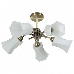 Люстра на штанге IDLamp5 или 6 ламп<br>Артикул - ID_870_5PF-oldbronze,Бренд - IDLamp (Италия),Коллекция - 870,Гарантия, месяцы - 24,Высота, мм - 380,Диаметр, мм - 580,Тип лампы - компактная люминесцентная [КЛЛ] ИЛИнакаливания ИЛИсветодиодная [LED],Общее кол-во ламп - 5,Напряжение питания лампы, В - 220,Максимальная мощность лампы, Вт - 60,Лампы в комплекте - отсутствуют,Цвет плафонов и подвесок - белый,Тип поверхности плафонов - глянцевый,Материал плафонов и подвесок - стекло,Цвет арматуры - старая бронза,Тип поверхности арматуры - глянцевый,Материал арматуры - металл,Возможность подлючения диммера - можно, если установить лампу накаливания,Тип цоколя лампы - E27,Класс электробезопасности - I,Общая мощность, Вт - 300,Степень пылевлагозащиты, IP - 20,Диапазон рабочих температур - комнатная температура,Дополнительные параметры - способ крепления светильника к потолку — на монтажной пластине, если Вам нужно повесить светильник на крюк, укажите это в комментарии к заказу, - мы положим в подарок пластину с ушком для крюка<br>
