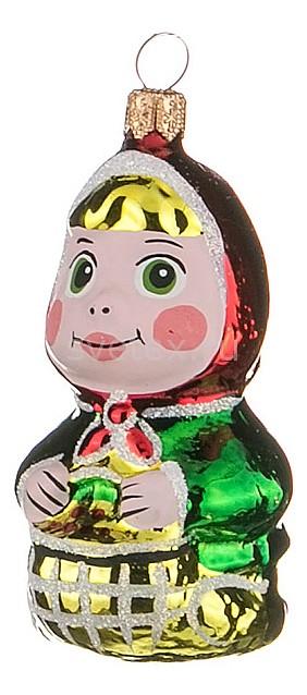 Елочная игрушка АРТИ-МЕлочные игрушки<br>Артикул - art_860-347,Бренд - АРТИ-М (Россия),Коллекция - Машенька,Высота, мм - 70,Цвет - зеленый, золотой, красный,Материал - стекло<br>