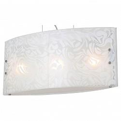 Подвесной светильник ST-LuceСветодиодные<br>Артикул - SL475.503.03,Бренд - ST-Luce (Китай),Коллекция - SL475,Гарантия, месяцы - 24,Высота, мм - 270-1200,Размер упаковки, мм - 660х250х320,Тип лампы - компактная люминесцентная [КЛЛ] ИЛИнакаливания ИЛИсветодиодная [LED],Общее кол-во ламп - 3,Напряжение питания лампы, В - 220,Максимальная мощность лампы, Вт - 60,Лампы в комплекте - отсутствуют,Цвет плафонов и подвесок - белый с рисунком,Тип поверхности плафонов - матовый, прозрачный,Материал плафонов и подвесок - стекло,Цвет арматуры - хром,Тип поверхности арматуры - глянцевый,Материал арматуры - металл,Возможность подлючения диммера - можно, если установить лампу накаливания,Тип цоколя лампы - E27,Класс электробезопасности - I,Общая мощность, Вт - 180,Степень пылевлагозащиты, IP - 20,Диапазон рабочих температур - комнатная температура,Дополнительные параметры - регулируется по высоте,  способ крепления светильника к потолку – на монтажной пластине<br>