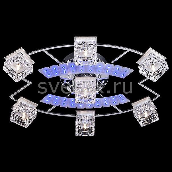 Фото Потолочная люстра Eurosvet 4969 4969/7 хром/белый-синий+красный+фиолетовый