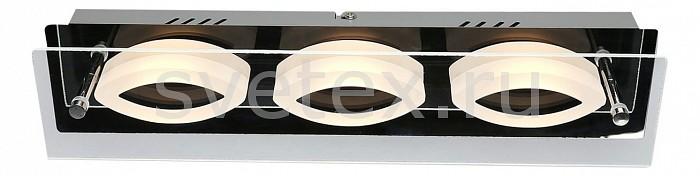 Накладной светильник OmniluxСветодиодные<br>Артикул - OM_OML-23701-03,Бренд - Omnilux (Италия),Коллекция - OM-237,Гарантия, месяцы - 24,Длина, мм - 380,Ширина, мм - 80,Выступ, мм - 70,Тип лампы - светодиодная [LED],Общее кол-во ламп - 3,Максимальная мощность лампы, Вт - 3,Лампы в комплекте - светодиодные [LED],Цвет плафонов и подвесок - белый, неокрашенный,Тип поверхности плафонов - матовый, прозрачный,Материал плафонов и подвесок - стекло,Цвет арматуры - хром,Тип поверхности арматуры - глянцевый,Материал арматуры - металл,Количество плафонов - 3,Возможность подлючения диммера - нельзя,Экономичнее лампы накаливания - в 10 раз,Класс электробезопасности - I,Напряжение питания, В - 220,Общая мощность, Вт - 9,Степень пылевлагозащиты, IP - 20,Диапазон рабочих температур - комнатная температура,Дополнительные параметры - способ крепления светильника к потолку и стене – на монтажной пластине<br>