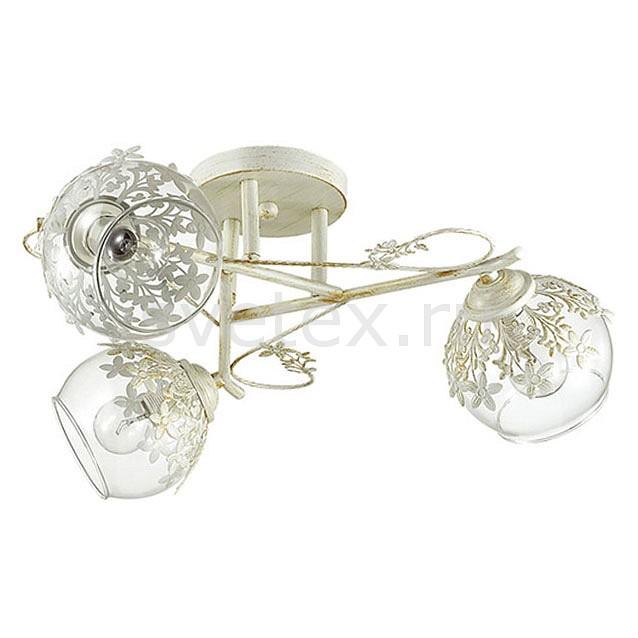 Потолочная люстра LumionЛюстры<br>Артикул - LMN_3041_3C,Бренд - Lumion (Италия),Коллекция - Florana,Гарантия, месяцы - 24,Высота, мм - 200,Диаметр, мм - 480,Размер упаковки, мм - 120x400x400,Тип лампы - компактная люминесцентная [КЛЛ] ИЛИнакаливания ИЛИсветодиодная [LED],Общее кол-во ламп - 3,Напряжение питания лампы, В - 220,Максимальная мощность лампы, Вт - 40,Лампы в комплекте - отсутствуют,Цвет плафонов и подвесок - белый, неокрашенный,Тип поверхности плафонов - прозрачный,Материал плафонов и подвесок - металл, стекло,Цвет арматуры - белый с золотой патиной,Тип поверхности арматуры - матовый,Материал арматуры - металл,Количество плафонов - 3,Возможность подлючения диммера - можно, если установить лампу накаливания,Тип цоколя лампы - E14,Класс электробезопасности - I,Общая мощность, Вт - 120,Степень пылевлагозащиты, IP - 20,Диапазон рабочих температур - комнатная температура,Дополнительные параметры - способ крепления к потолку - на монтажной пластине<br>