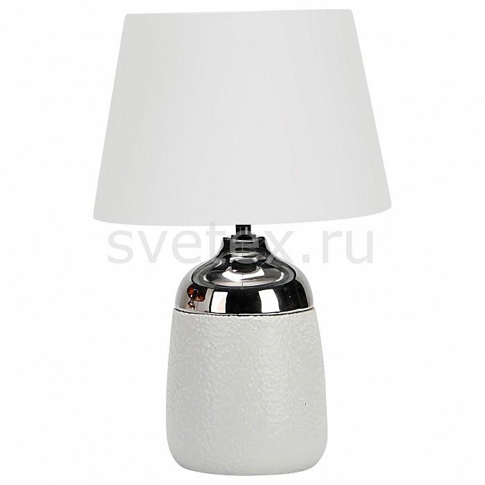 Настольная лампа OmniluxС абажуром<br>Артикул - OM_OML-82404-01,Бренд - Omnilux (Италия),Коллекция - OML-824,Гарантия, месяцы - 24,Время изготовления, дней - 1,Высота, мм - 420,Диаметр, мм - 280,Тип лампы - компактная люминесцентная [КЛЛ] ИЛИнакаливания ИЛИсветодиодная [LED],Общее кол-во ламп - 1,Напряжение питания лампы, В - 220,Максимальная мощность лампы, Вт - 60,Лампы в комплекте - отсутствуют,Цвет плафонов и подвесок - белый,Тип поверхности плафонов - матовый,Материал плафонов и подвесок - текстиль,Цвет арматуры - белый, хром,Тип поверхности арматуры - глянцевый, матовый,Материал арматуры - металл,Количество плафонов - 1,Наличие выключателя, диммера или пульта ДУ - выключатель на проводе,Компоненты, входящие в комплект - провод электропитания с вилкой без заземления,Тип цоколя лампы - E27,Класс электробезопасности - II,Степень пылевлагозащиты, IP - 20,Диапазон рабочих температур - комнатная температура<br>
