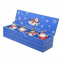 Снеговик Mister ChristmasСнеговики<br>Артикул - MC_LH-F1-SET_4,Бренд - Mister Christmas (Россия),Коллекция - LH-F1,Высота, мм - 75,Размер упаковки, мм - 6.5х42х14.5 см<br>