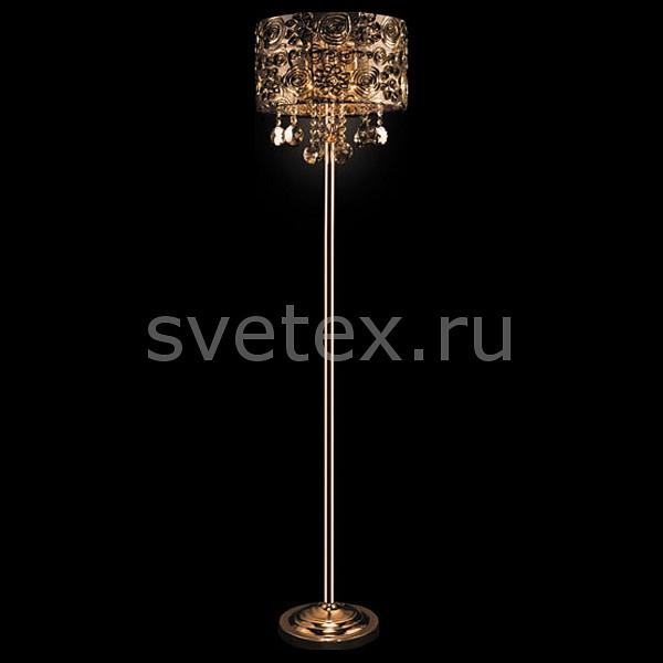 Фото Торшер Eurosvet 3400 3400/3F золото/тонированный хрусталь торшер Strotskis