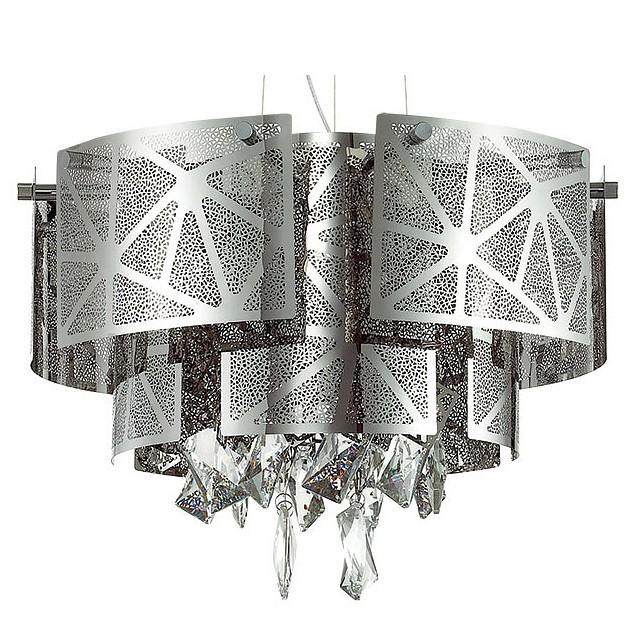 Подвесной светильник Odeon LightСветодиодные<br>Артикул - OD_3479_5,Бренд - Odeon Light (Италия),Коллекция - Hilary,Гарантия, месяцы - 24,Высота, мм - 410-1530,Диаметр, мм - 430,Тип лампы - галогеновая ИЛИсветодиодная [LED],Общее кол-во ламп - 5,Напряжение питания лампы, В - 220,Максимальная мощность лампы, Вт - 42,Лампы в комплекте - отсутствуют,Цвет плафонов и подвесок - неокрашенный, хром,Тип поверхности плафонов - глянцевый, рельефный,Материал плафонов и подвесок - металл, хрусталь,Цвет арматуры - хром,Тип поверхности арматуры - глянцевый,Материал арматуры - металл,Количество плафонов - 1,Возможность подлючения диммера - можно, если установить галогеновую лампу,Форма и тип колбы - пальчиковая,Тип цоколя лампы - G9,Класс электробезопасности - I,Общая мощность, Вт - 210,Степень пылевлагозащиты, IP - 20,Диапазон рабочих температур - комнатная температура,Дополнительные параметры - способ крепления светильника к потолку - на крюке, светильник регулируется по высоте<br>
