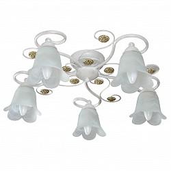 Потолочная люстра Аврора5 или 6 ламп<br>Артикул - AV_10064-5C,Бренд - Аврора (Россия),Коллекция - Лотус,Гарантия, месяцы - 24,Высота, мм - 180,Диаметр, мм - 560,Тип лампы - компактная люминесцентная [КЛЛ] ИЛИнакаливания ИЛИсветодиодная [LED],Общее кол-во ламп - 5,Напряжение питания лампы, В - 220,Максимальная мощность лампы, Вт - 60,Лампы в комплекте - отсутствуют,Цвет плафонов и подвесок - белый,Тип поверхности плафонов - матовый,Материал плафонов и подвесок - стекло,Цвет арматуры - белый, золото,Тип поверхности арматуры - матовый,Материал арматуры - металл,Возможность подлючения диммера - можно, если установить лампу накаливания,Тип цоколя лампы - E14,Класс электробезопасности - I,Общая мощность, Вт - 300,Степень пылевлагозащиты, IP - 20,Диапазон рабочих температур - комнатная температура,Дополнительные параметры - способ крепления светильника к потолку - на монтажной пластине<br>