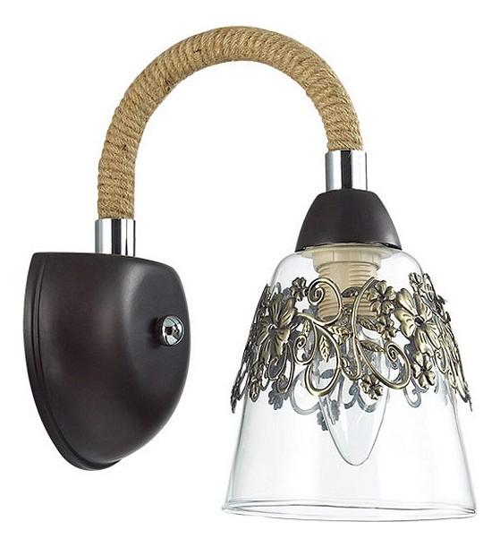 Бра Odeon LightНастенные светильники<br>Артикул - OD_3252_1W,Бренд - Odeon Light (Италия),Коллекция - Teona,Гарантия, месяцы - 24,Ширина, мм - 130,Высота, мм - 251,Выступ, мм - 260,Тип лампы - компактная люминесцентная [КЛЛ] ИЛИнакаливания ИЛИсветодиодная [LED],Общее кол-во ламп - 1,Напряжение питания лампы, В - 220,Максимальная мощность лампы, Вт - 60,Лампы в комплекте - отсутствуют,Цвет плафонов и подвесок - бронза, неокрашенный,Тип поверхности плафонов - матовый, прозрачный,Материал плафонов и подвесок - стекло,Цвет арматуры - коричневый, кофе, хром,Тип поверхности арматуры - глянцевый, матовый,Материал арматуры - канат, металл,Количество плафонов - 1,Возможность подлючения диммера - можно, если установить лампу накаливания,Тип цоколя лампы - E14,Класс электробезопасности - I,Степень пылевлагозащиты, IP - 20,Диапазон рабочих температур - комнатная температура,Дополнительные параметры - светильник предназначен для использования со скрытой проводкой<br>