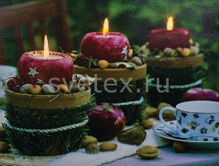 Фото Панно световое Feron x 30 см x 40 см LT117 Красные свечи