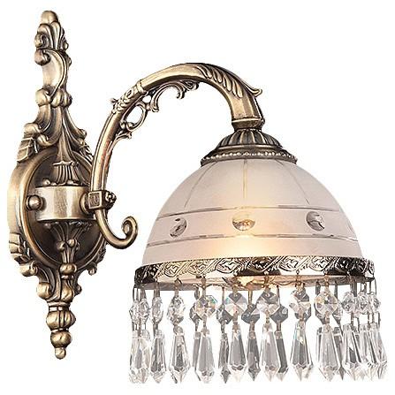 Бра EurosvetНастенные светильники<br>Артикул - EV_68985,Бренд - Eurosvet (Китай),Коллекция - 22823,Гарантия, месяцы - 24,Ширина, мм - 170,Высота, мм - 300,Выступ, мм - 270,Тип лампы - компактная люминесцентная [КЛЛ] ИЛИнакаливания ИЛИсветодиодная [LED],Общее кол-во ламп - 1,Напряжение питания лампы, В - 220,Максимальная мощность лампы, Вт - 40,Лампы в комплекте - отсутствуют,Цвет плафонов и подвесок - белый с рисунком и с каймой, неокрашенный,Тип поверхности плафонов - матовый, прозрачный,Материал плафонов и подвесок - стекло, хрусталь,Цвет арматуры - бронза античная,Тип поверхности арматуры - матовый, рельефный,Материал арматуры - металл,Количество плафонов - 1,Возможность подлючения диммера - можно, если установить лампу накаливания,Тип цоколя лампы - E27,Класс электробезопасности - I,Степень пылевлагозащиты, IP - 20,Диапазон рабочих температур - комнатная температура,Дополнительные параметры - способ крепления светильника на стене – на монтажной пластине, светильник предназначен для использования со скрытой проводкой<br>