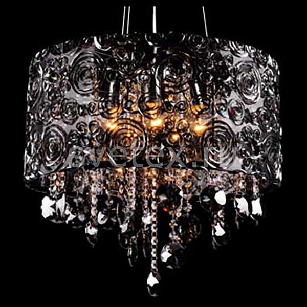 Фото Подвесной светильник Eurosvet 3400 3400/5 хром/дымчатый хрусталь Strotskis