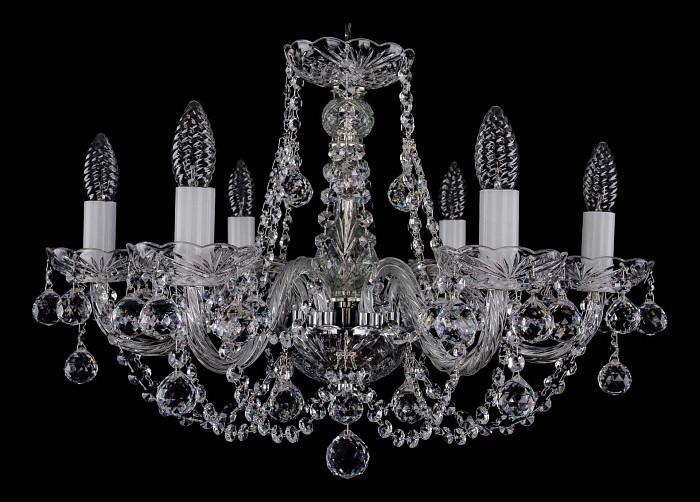 Фото Подвесная люстра Bohemia Ivele Crystal 1406 1406/6/195/Ni/Balls