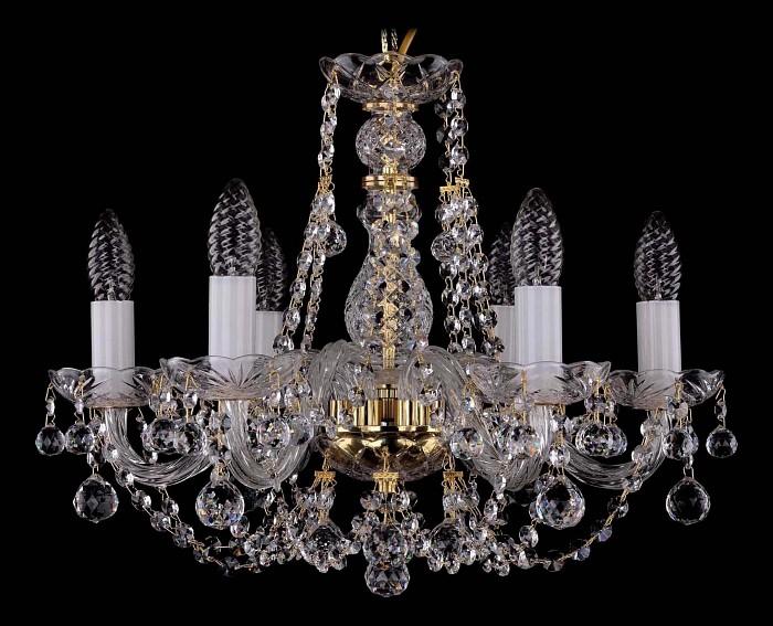 Фото Подвесная люстра Bohemia Ivele Crystal 1406 1406/6/160/G/Balls