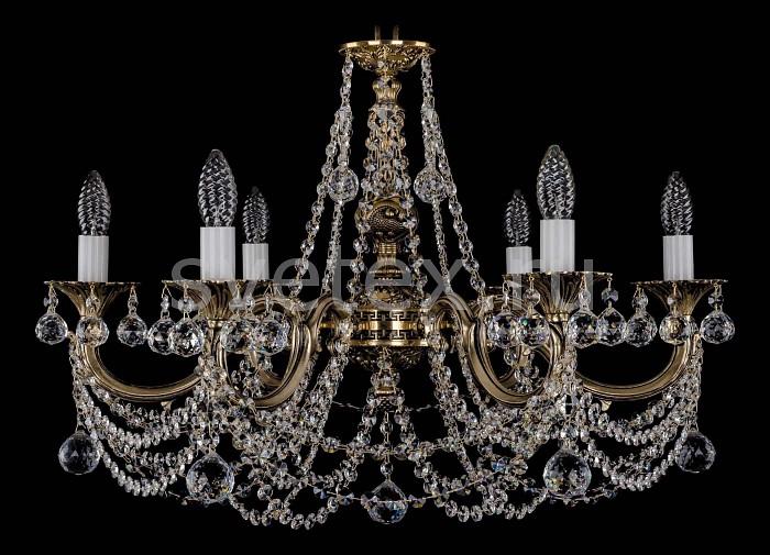 Фото Подвесная люстра Bohemia Ivele Crystal 1702 1702/6/C/GB/Balls