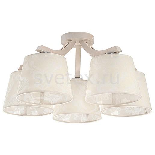 Потолочная люстра EurosvetТекстильные плафоны<br>Артикул - EV_7565,Бренд - Eurosvet (Китай),Коллекция - Mika,Гарантия, месяцы - 24,Высота, мм - 260,Диаметр, мм - 550,Тип лампы - компактная люминесцентная [КЛЛ] ИЛИнакаливания ИЛИсветодиодная [LED],Общее кол-во ламп - 5,Напряжение питания лампы, В - 220,Максимальная мощность лампы, Вт - 60,Лампы в комплекте - отсутствуют,Цвет плафонов и подвесок - кремовый с рисунком,Тип поверхности плафонов - матовый,Материал плафонов и подвесок - текстиль,Цвет арматуры - светлое дерево,Тип поверхности арматуры - матовый,Материал арматуры - дерево, металл,Количество плафонов - 5,Возможность подлючения диммера - можно, если установить лампу накаливания,Тип цоколя лампы - E27,Класс электробезопасности - I,Общая мощность, Вт - 300,Степень пылевлагозащиты, IP - 20,Диапазон рабочих температур - комнатная температура,Дополнительные параметры - способ крепления светильника к потолку – на монтажной пластине<br>