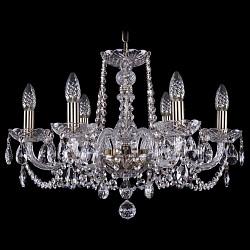 Подвесная люстра Bohemia Ivele Crystal5 или 6 ламп<br>Артикул - BI_1402_6_195_Pa,Бренд - Bohemia Ivele Crystal (Чехия),Коллекция - 1402,Гарантия, месяцы - 24,Высота, мм - 410,Диаметр, мм - 580,Размер упаковки, мм - 450x450x200,Тип лампы - компактная люминесцентная [КЛЛ] ИЛИнакаливания ИЛИсветодиодная [LED],Общее кол-во ламп - 6,Напряжение питания лампы, В - 220,Максимальная мощность лампы, Вт - 40,Лампы в комплекте - отсутствуют,Цвет плафонов и подвесок - неокрашенный,Тип поверхности плафонов - прозрачный,Материал плафонов и подвесок - хрусталь,Цвет арматуры - золото с патиной, неокрашенный,Тип поверхности арматуры - глянцевый, прозрачный, рельефный,Материал арматуры - металл, стекло,Возможность подлючения диммера - можно, если установить лампу накаливания,Форма и тип колбы - свеча ИЛИ свеча на ветру,Тип цоколя лампы - E14,Класс электробезопасности - I,Общая мощность, Вт - 240,Степень пылевлагозащиты, IP - 20,Диапазон рабочих температур - комнатная температура,Дополнительные параметры - способ крепления светильника к потолку - на крюке, указана высота светильника без подвеса<br>
